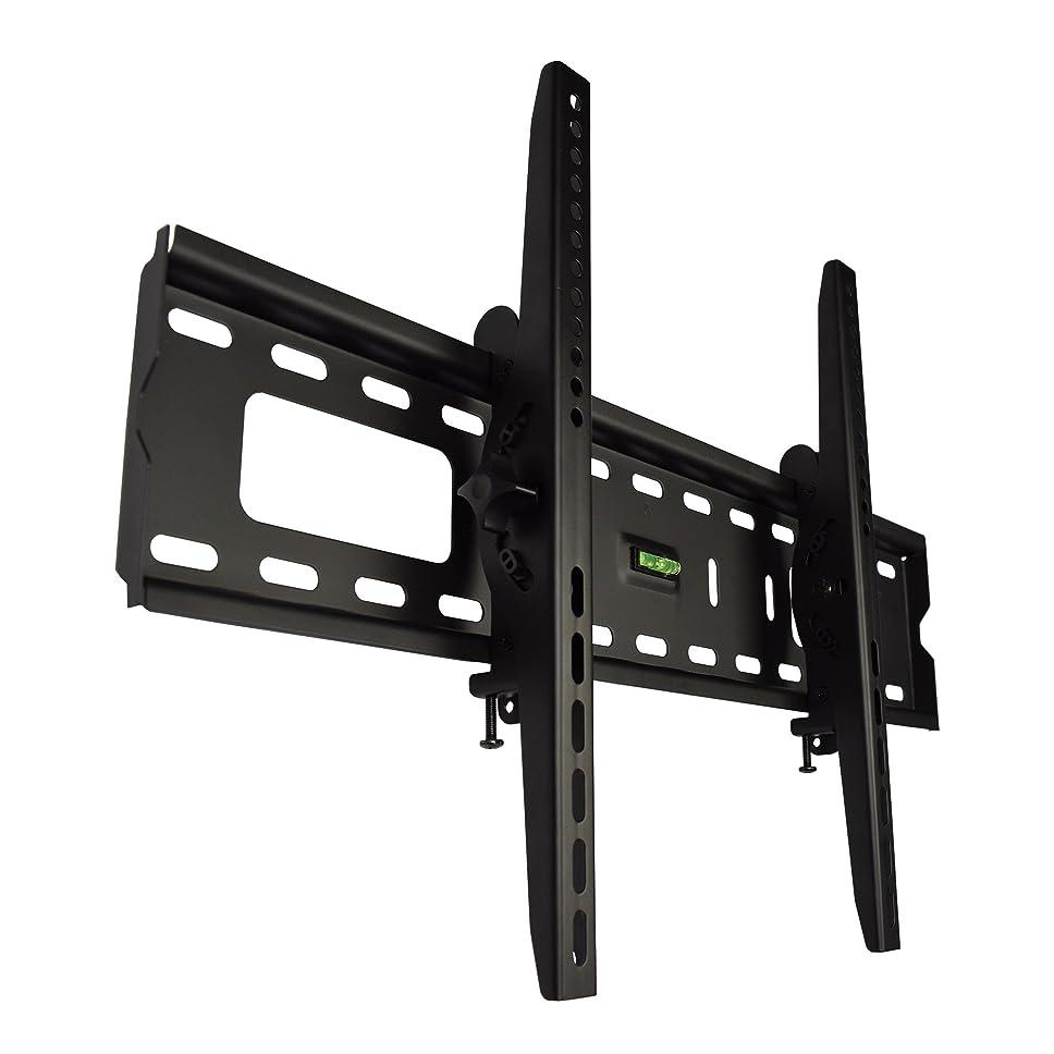 突撃必須霜テレビ 壁掛け 金具 STARPLATINUM 液晶 TV モニター TVセッターチルト FT100 37-65インチ対応 Mサイズ ブラック