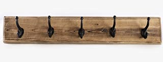 DOMEK Stylish Living Coat Rack Wall Mounted Wooden - (Large 33.5