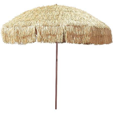 Bayside21  8 Hula Thatched Tiki Umbrella Natural Color