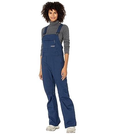 Burton Avalon Bib Pants Short (Dress Blue) Women