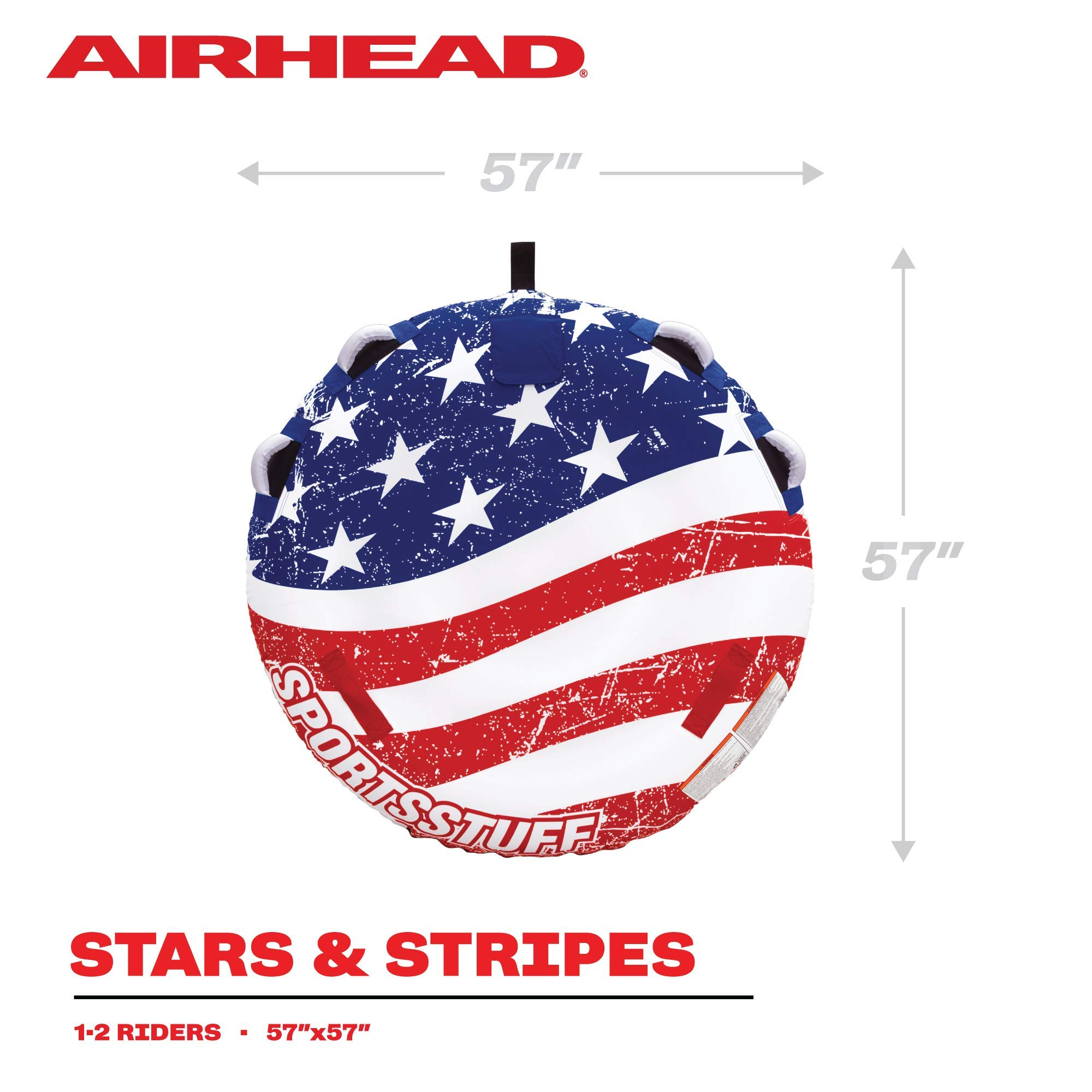 Sportsstuff Stars & Stripes   Towable Tube for Boating with 1-4 Rider Options