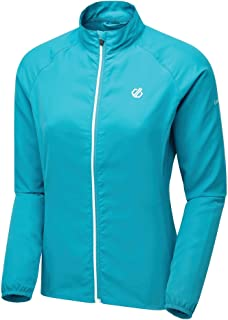 Dare2b Women's DWL429 U6720L Resilient' Reflective Detail Windshell Jacket, Freshwater Blue Stripe, 20