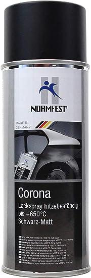 Normfest Lackspray Spray Corona Schwarz Matt HitzebestÄndig 650 C Lack 400ml 1 Auto