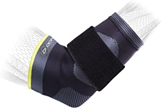 DonJoy Performance Deluxe Knit Elbow Sleeve with Compression Strap - Ideal for Golfer's Elbow, Tennis Elbow, and Elbow Tendonitis - Large