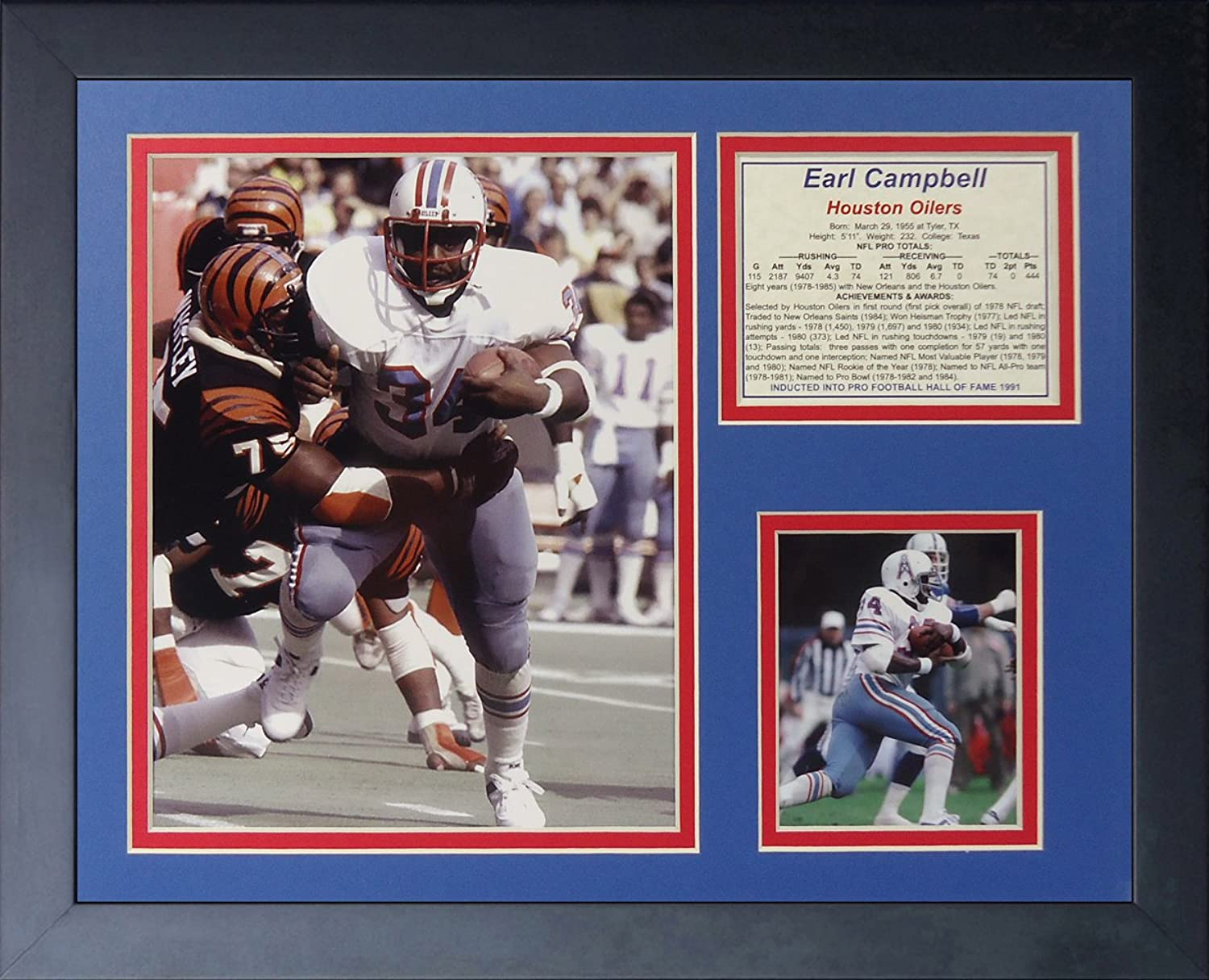 Legends Never Die Earl Campbell  Framed Photo Collage, 11 x 14Inch