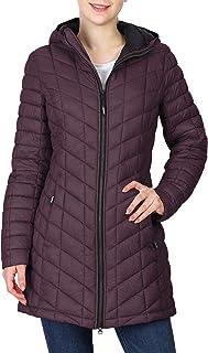Women's Maryan Hooded Ultra Lightweight Warm Thermolite Long Puffer Coat