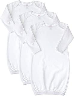 white cotton newborn gowns