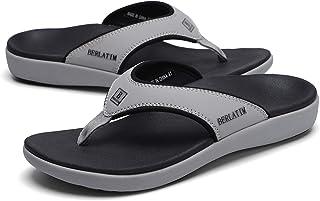 Mens Orthotic Plantar Fasciitis Sport Flip Flops Comfort Casual Thong Sandals Outdoor Indoor