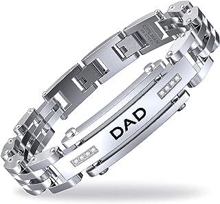 COOLMAN Bracciale da Uomo Regolabile per papà Papa Dad con Confezione Regalo