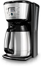 BLACK+DECKER Thermal Coffee Maker, 12 Cup, Programmable, Digital Controls, Black and Silver, CM2036SC