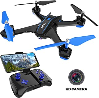 Remoking RS6 RC Drone Toys with 720P FPV Wi-Fi HD Camera Live Video Racing Quadcopter Headless Mode 360°flip 4 Channels Altitude Hold Indoor and Outdoor Sport Game Gifts for Kids and Adults(Blue)