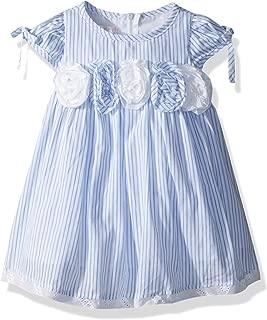 Biscotti Baby Girls Summer Stripes Puff Sleeve Dress