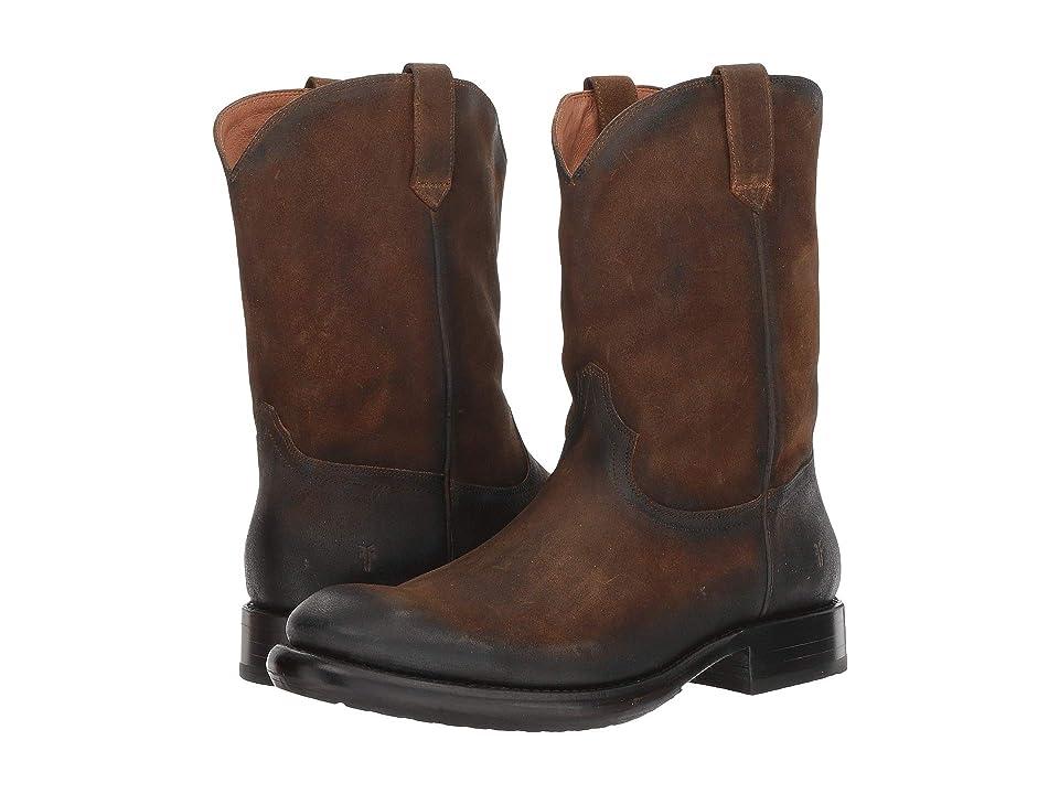 Frye Duke Roper (Wheat Waxed Suede) Cowboy Boots