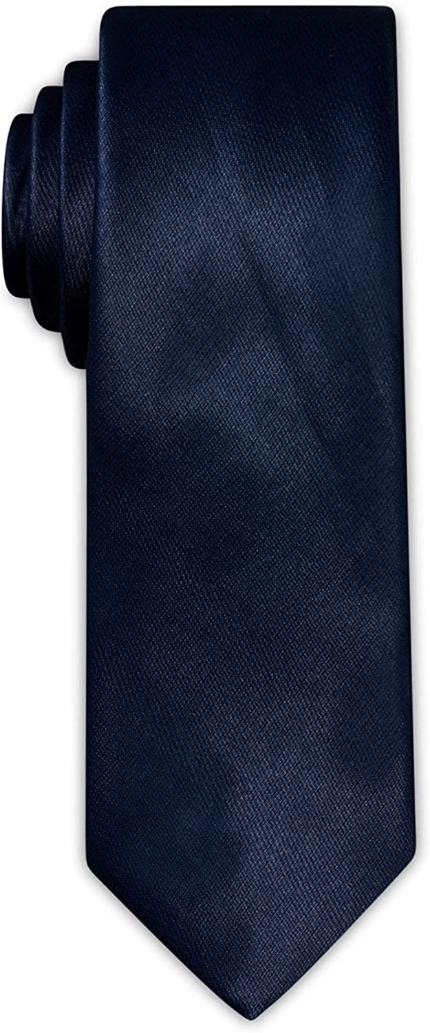 TALLIA Mens Blue Textured Polyester Classic Neck Tie