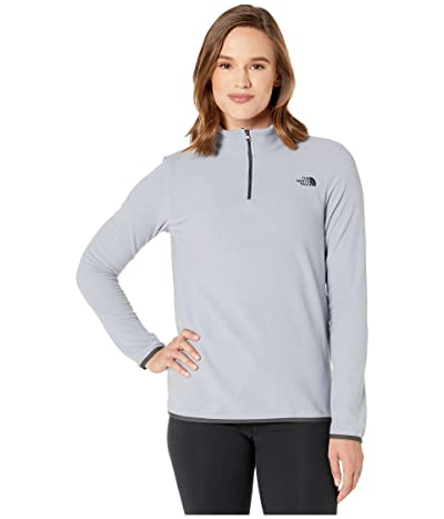 The North Face TKA Glacier 1/4 Zip (Mid Grey/Mid Grey) Women