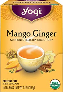 Yogi Tea - Mango Ginger (4 Pack) - Supports Healthy Digestion - 64 Tea Bags