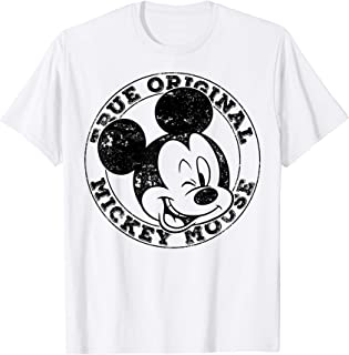 Disney Mickey And Friends Mickey Mouse True Original Circle Camiseta