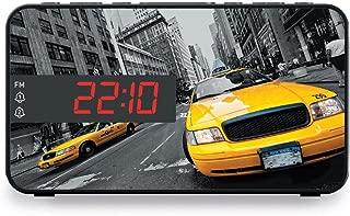 BigBen RR15TAXI - Radio despertador (pantalla LED de 2