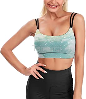 Color-gouacheLow Back Yoga Bra Camisole Top Tank Top Sports Bra