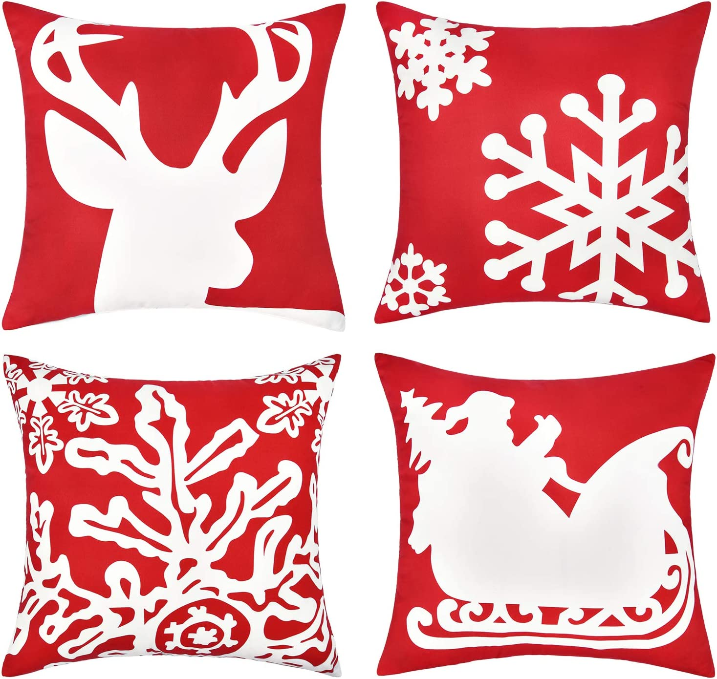 Christmas Pillow Covers with Embroidery