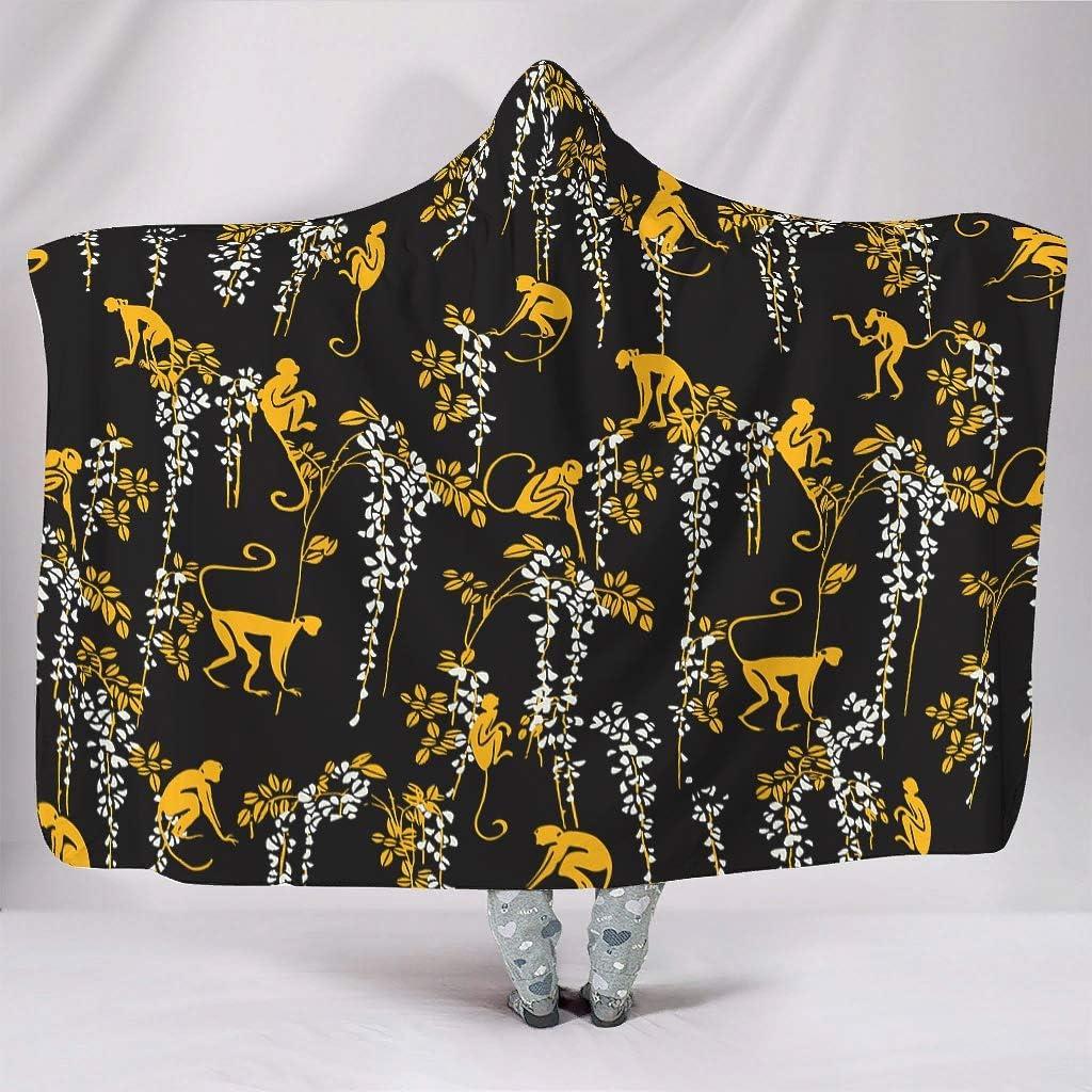 Rtisandu Hooded Blanket Monkey Soft Wearable Cloak Award Shawl Jacksonville Mall