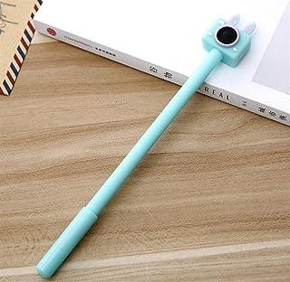 Royare of School Supplies 4Pcs/Set Retro Cassette Camera Gel Pen Kit Funny Signing Pen Student Stationery Reward (Sky Blue)
