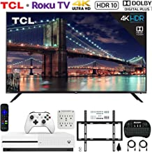 $1599 » TCL 75R617 75-inch 6-Series 4K UHD Dolby Vision HDR Roku Smart TV (2019) Bundle with Microsoft Xbox One S 1 TB Console, Wall Mount Kit, Deco Gear Wireless Keyboard and 6-Outlet Surge Adapter