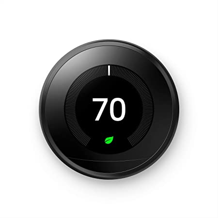 Google Nest Learning Thermostat - Programmable Smart Thermostat for Home - 3rd Generation Nest Thermostat - Works with Alexa - Black
