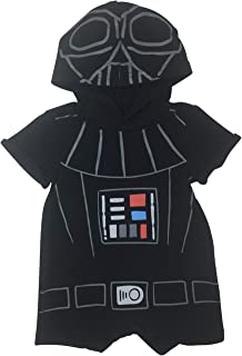 Darth Vader Infant Baby Boys Short Sleeve Hooded Romper Costume Outfit