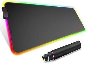 havit Tapis de Souris XXL Gamer RGB avec 14 Modes d'Eclairage 800 x 300 x 4mm Très Grande Gaming Tapis, Tapis de Souris ét...