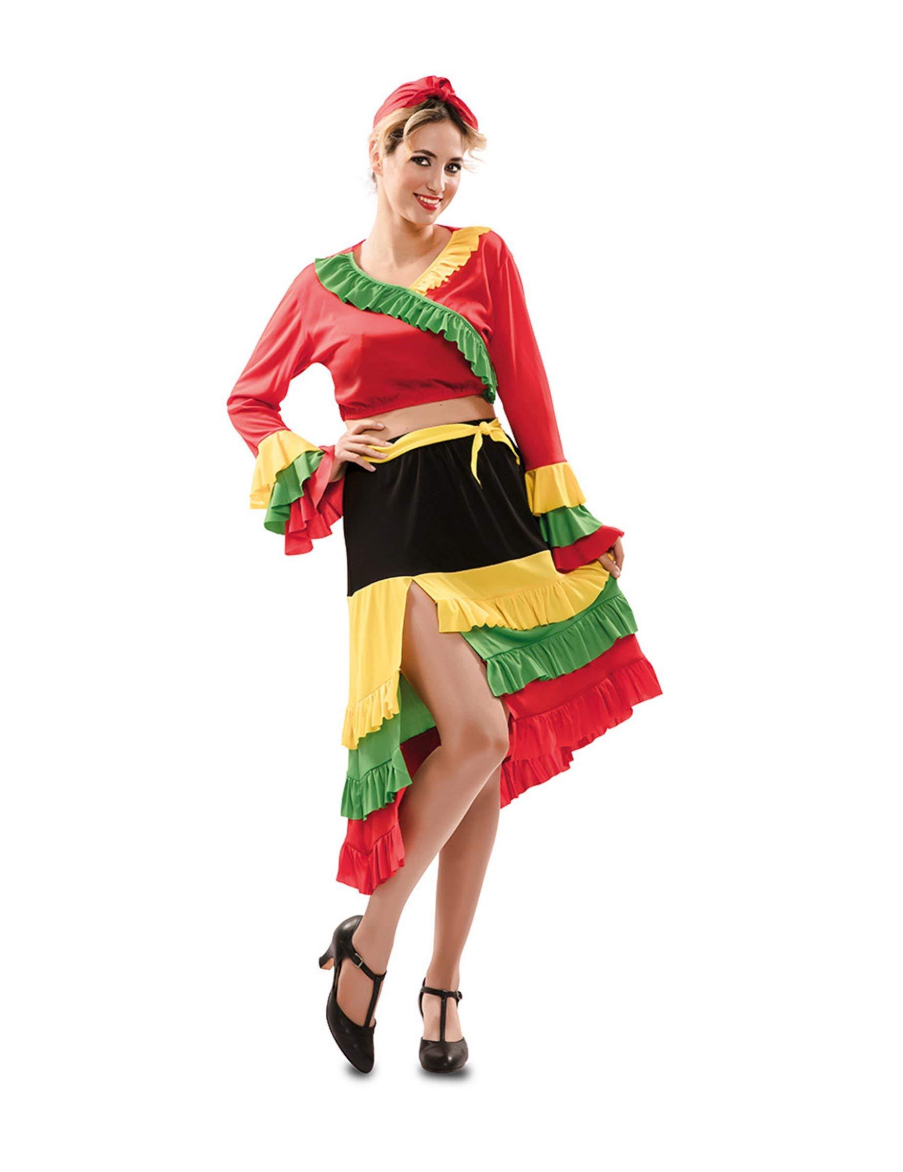 Disfraz de Rumbera Roja para mujer: Amazon.es: Juguetes y juegos