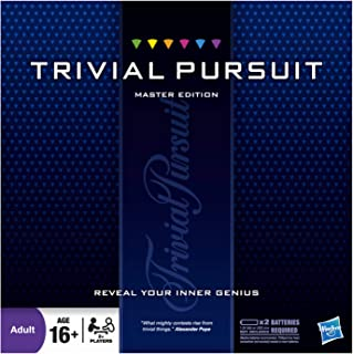 Trivial Pursuit Master Edition Trivia Board Game for Adults and Teens Ages 16 and Up One Size HAS16762