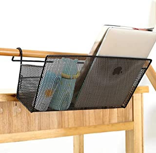 Bedside Caddy Dorm,2 Pack Hanging Storage Baskets for Bunkbed,Mesh Hanging Organizer for Dormitory Bunk Bed Office Desk Table,Bedside Corner Shelves Holder for Book Phone Tissues Water Bottle