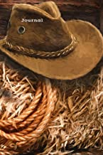 Journal: Cowboy hat and lasso, 120 page (60 sheet) 6