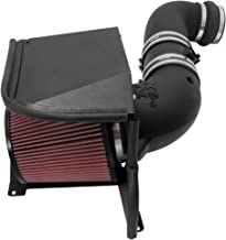 K&N Cold Air Intake Kit with Washable Air Filter:  2011-2014 Chevy/GMC Heavy Duty (Silverado 2500/3500 HD, Sierra 2500/3500 HD) 6.6L V8 Diesel, Black HDPE Tube with Red Oiled Filter, 57-3077