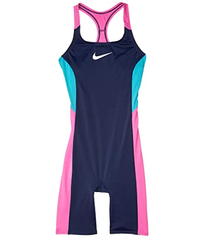 Nike Kids Color Surge Racerback Legsuit (Little Kids/Big Kids) (Midnight Navy) Girl