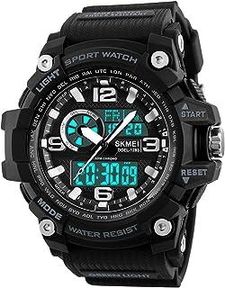 Dayllon Mens Analog Digital LED 50M Waterproof Outdoor Sport Watch Military Multifunction Casual Dual Display 12H/24H Stopwatch Calendar Wrist Watch