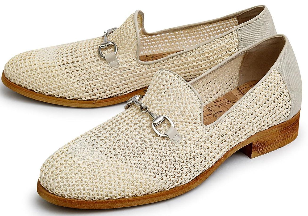 海外司令官マナー[BlissLeather] ビットローファー メッシュ シューズ メンズ 革靴 短靴 BLGLBT-084_p