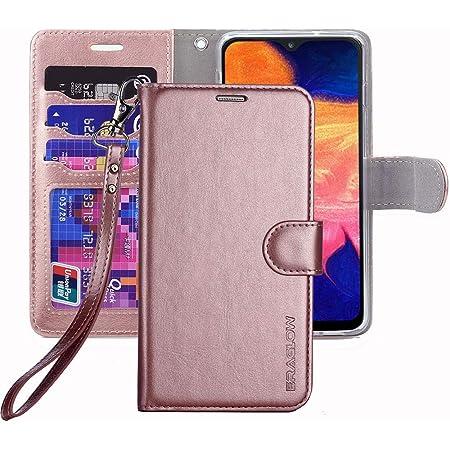 ERAGLOW Galaxy A10E Case,Galaxy A10E Wallet Case,Premium PU Leather Wallet Flip Protective Phone Case Cover w/Card Slots & Kickstand for Samsung Galaxy A10E A10 E 2019(Rose Gold)