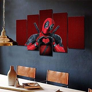 Deadpool Marvel Filme Abstraktes Bilder Leinwand Modern Deko Wandbild XXXL 2231A