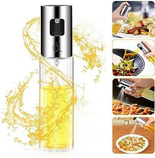 Besmon Olive Oil Sprayer Food-grade Glass Bottle dispenser for Cooking, BBQ, Salad,..