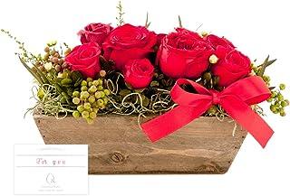 (赤ちゃんまーけっと) &Preser プリザーブドフラワー 誕生日 プレゼント 花 ローズ 薔薇 ローズ ウッディブルーム 赤 レッド メッセージカード For you