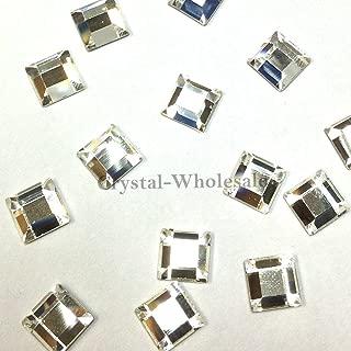 CRYSTAL (001) clear Swarovski 2400 Square - 4mm Flatbacks No Hotfix Rhinestones 24 pcs *FREE Shipping from Mychobos (Crystal-Wholesale)*