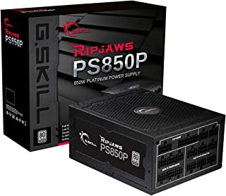 G.Skill GP-PL850A-CWV1 Ripjaws PS850P 850W 80+ Platinum Full Modular Intel/AMD Ready Gaming PC ATX 12V Power Supply