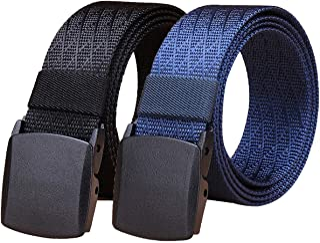WYuZe 2 Pack Nylon Belt Outdoor Military Web Belt 1.5