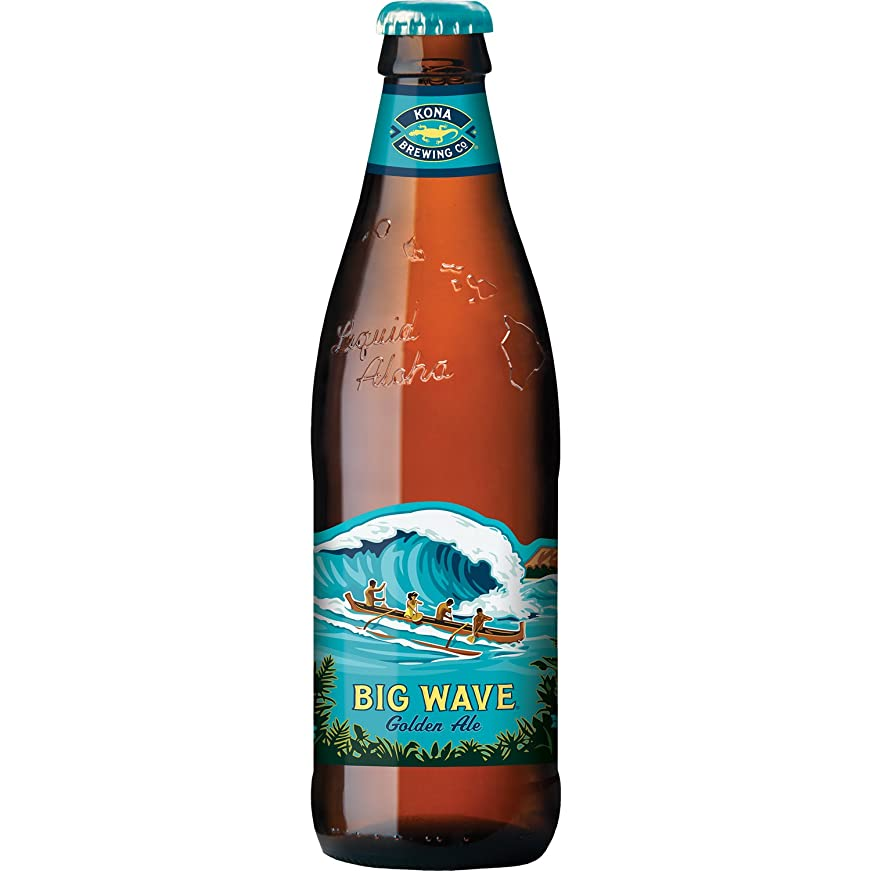 取るに足らない高価な川コナビール ビッグウェーヴ ゴールデンエール 瓶 [ エールタイプ アメリカ合衆国 355mlx24本 ]