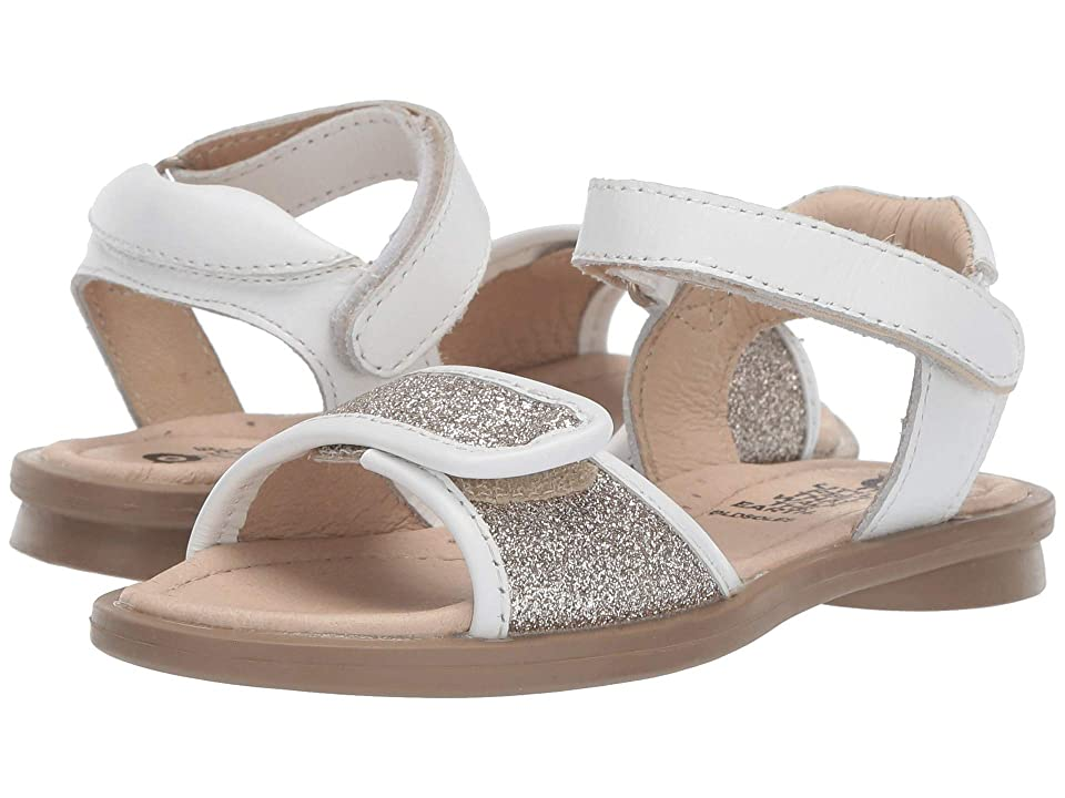 Old Soles Martini Sandal (Toddler/Little Kid) (Glam Cream/Snow) Girls Shoes