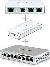 Ubiquiti USG Unifi Security Gateway (1 Item) Bundle with Ubiquiti UC-CK Unifi Cloud Key - Remote Control Device (1 Item) & Ubiquiti US-8-60W UniFi Switch 8 60W (1 Item)