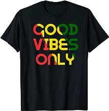 Good Vibes Only Rasta Reggae Roots Clothing Tee Flag Shirt