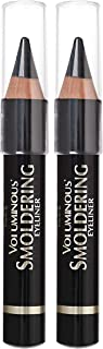 L'Oreal Paris Makeup Voluminous Smoldering Pencil Eyeliner with Custom Sharpener, Kajal Inspired & Richly Intense, Black, ...